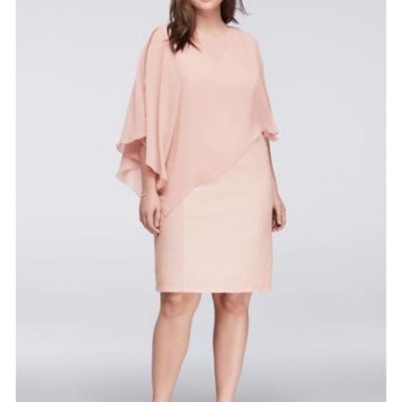 ONYX Nite David\'s Bridal Blush Glitter Dress NWT